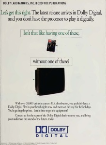 Ad for Dolby Digital (from BoxOffice Magazine).